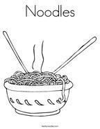 Noodles Coloring Page