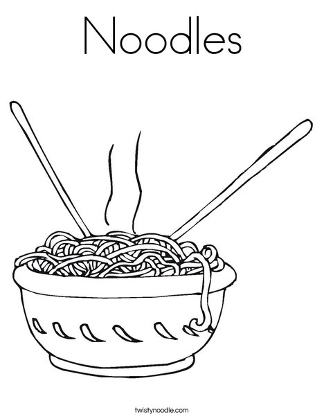 Noodle Coloring Sheets - Clipart Library •