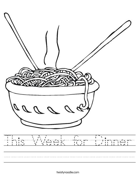 Noodles Worksheet