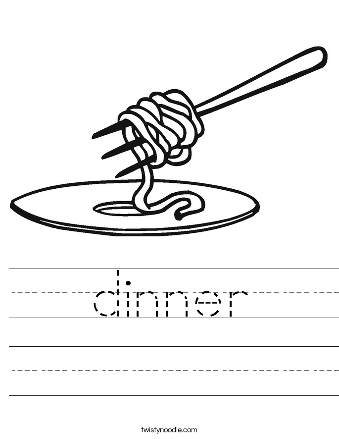 dinner Worksheet