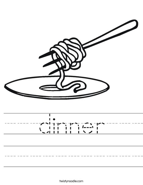 Noodles on a Fork Worksheet