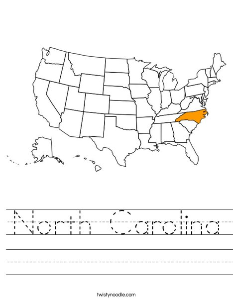 North Carolina Worksheet