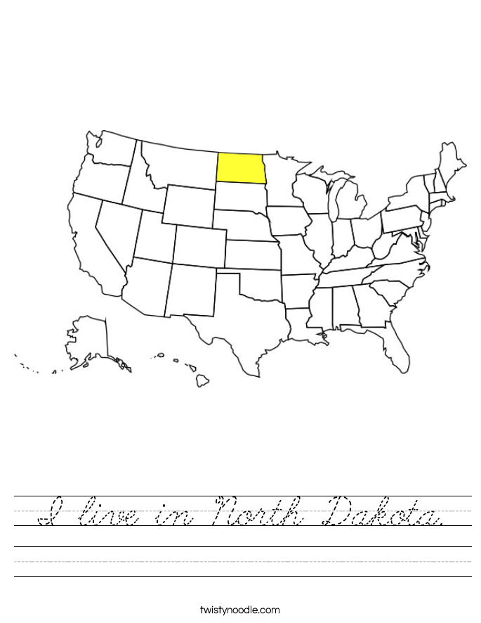 I live in North Dakota. Worksheet