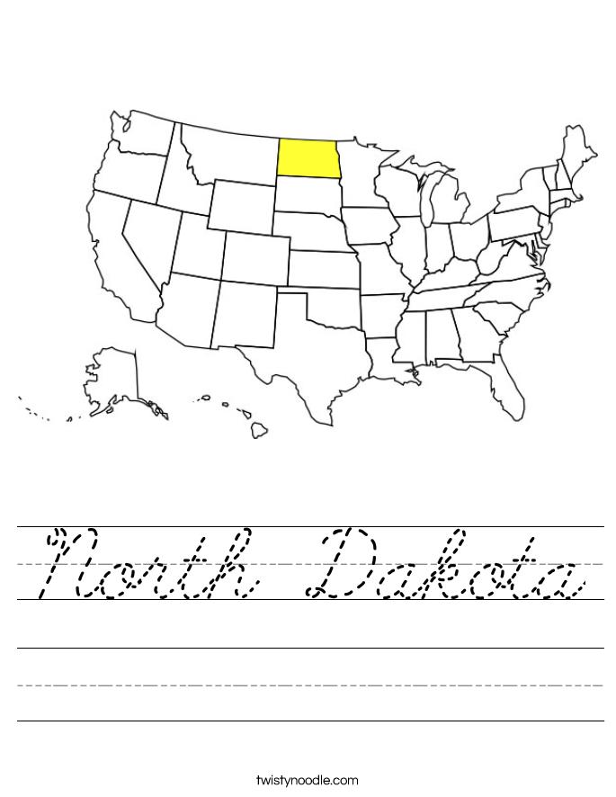 North Dakota Worksheet