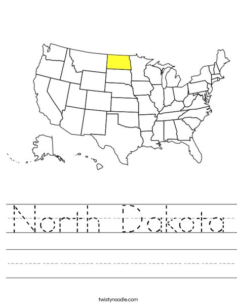 North Dakota Worksheet