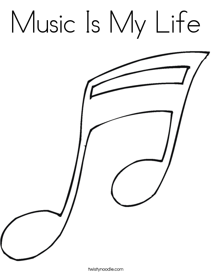music is my life coloring page - Music Coloring Pages