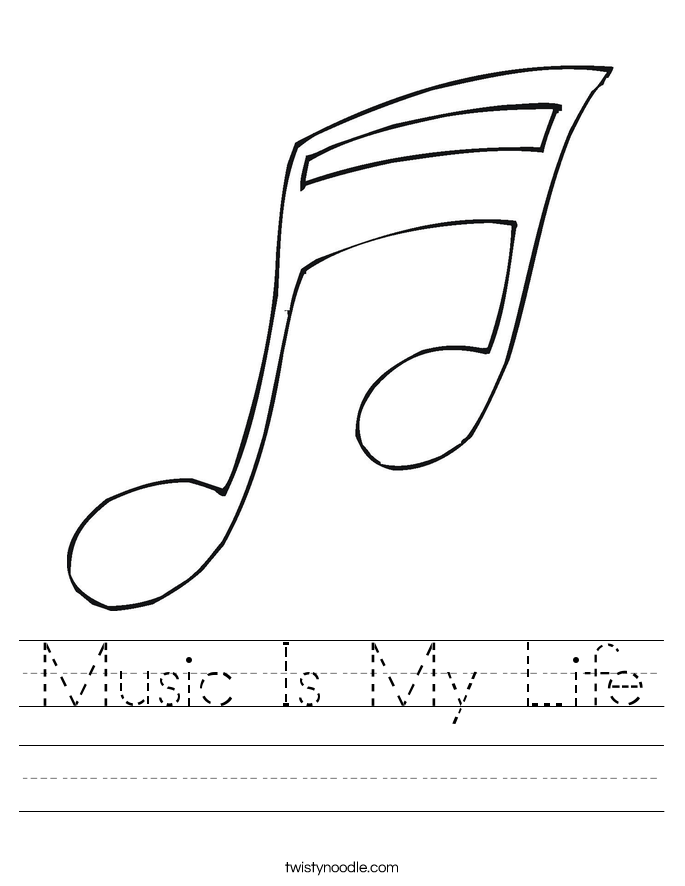 Music Is My Life Worksheet