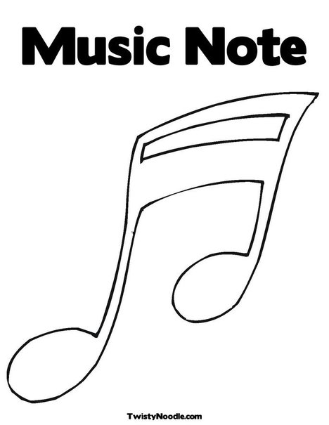 Colorful Music Note Tattoos Music Note Coloring Page