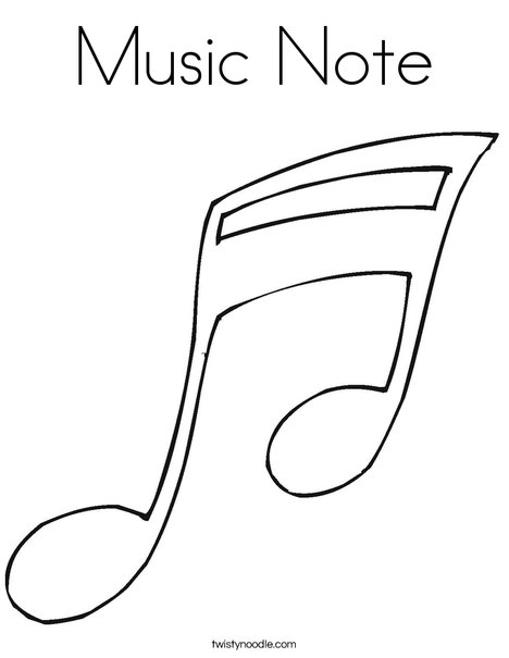 note coloring page - Music Notes Coloring Pages