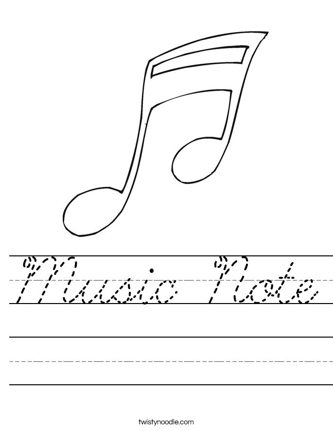 Music Note Worksheet