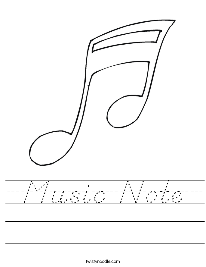 Music Note Worksheet