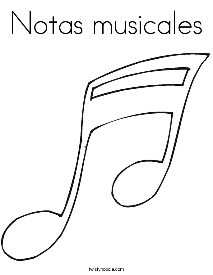 Notas musicales Coloring Page