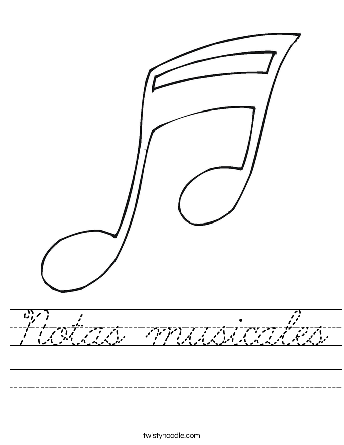 Notas musicales Worksheet