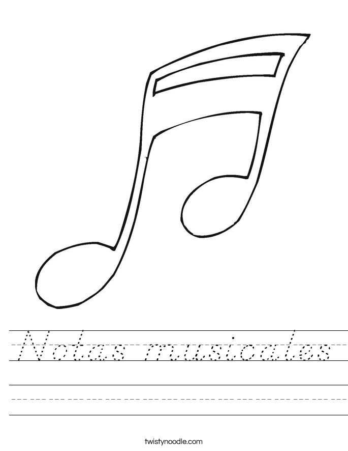 Notas musicales Worksheet