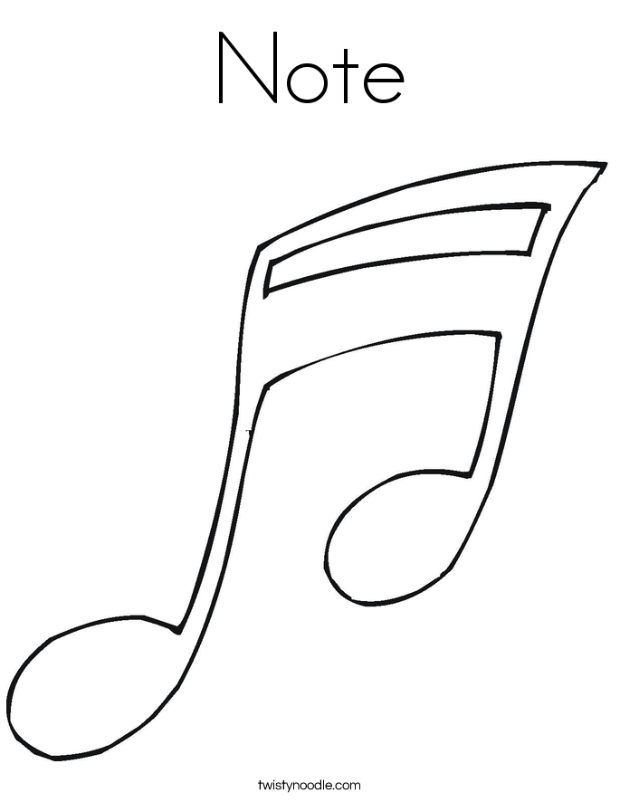 Note Coloring Page