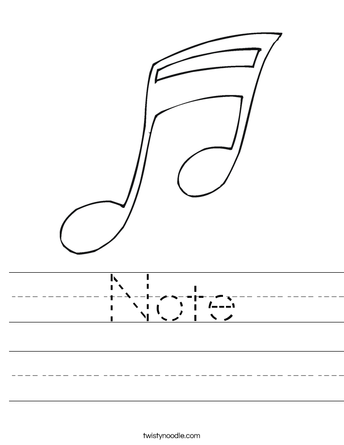 Note Worksheet