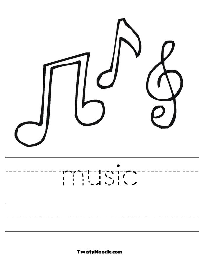 music note worksheets