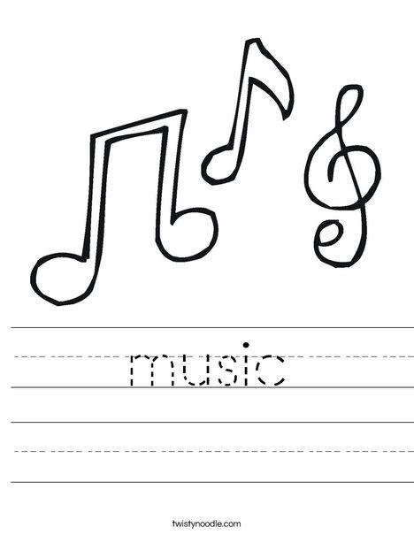 Notes and a Treble Clef Worksheet
