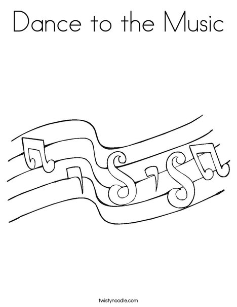 Notes Coloring Page