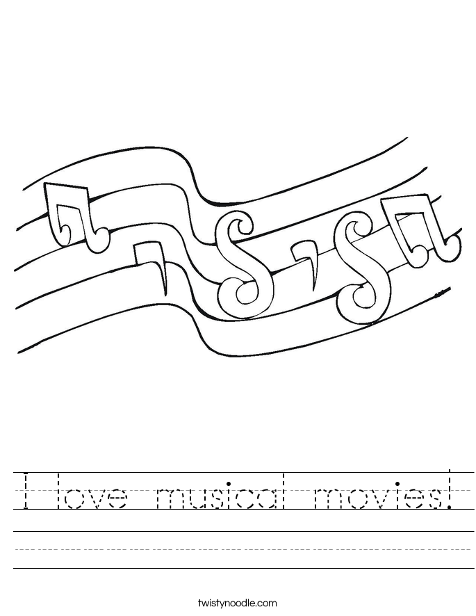 I love musical movies! Worksheet