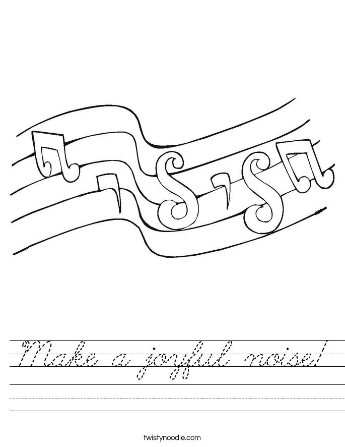 Make a joyful noise! Worksheet
