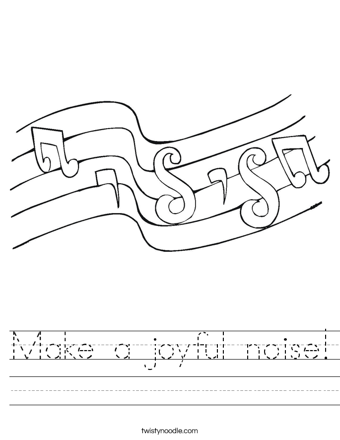 Make a joyful noise! Worksheet