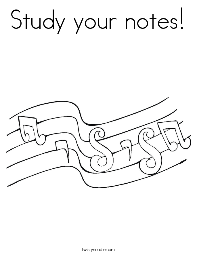 Study your notes! Coloring Page