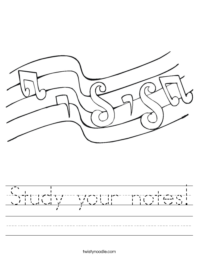 Study your notes! Worksheet