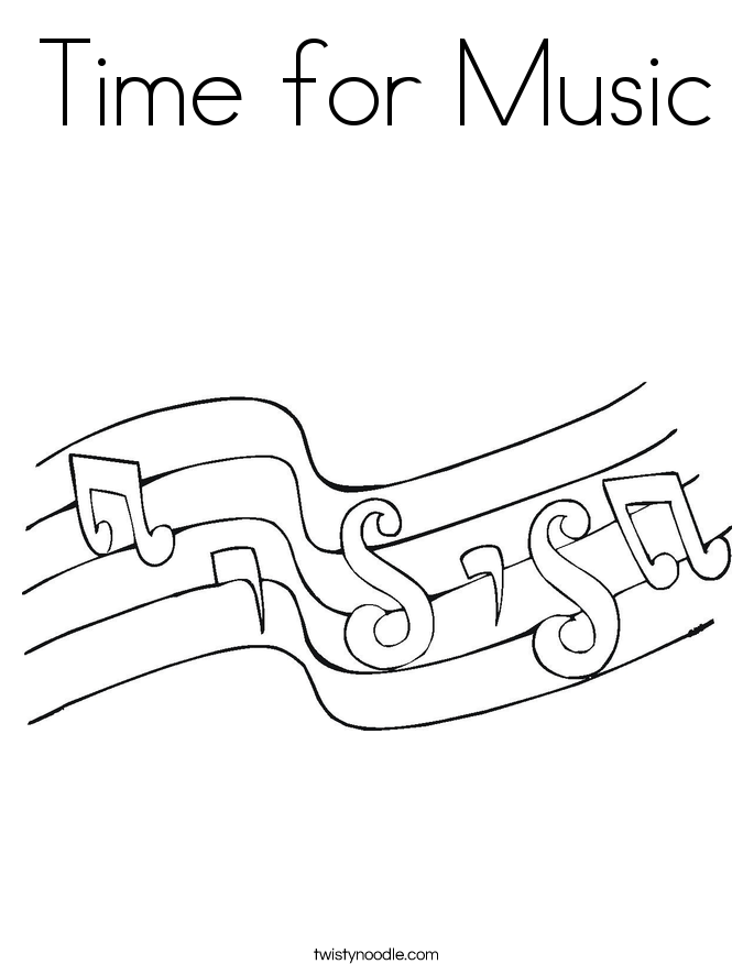 Time for Music Coloring Page