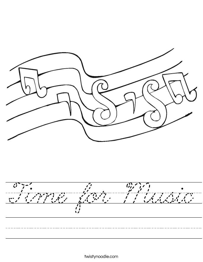 Time for Music Worksheet