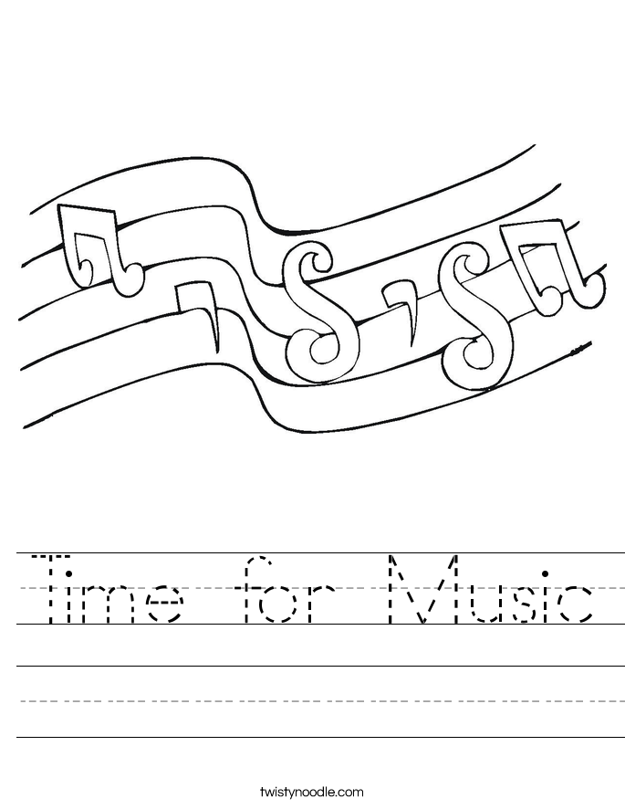 Time for Music Worksheet
