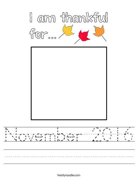 November 2016 Worksheet