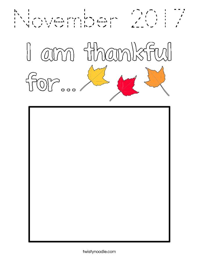 November 2017 Coloring Page