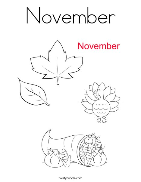 November coloring pages printable for Coloring pages for november
