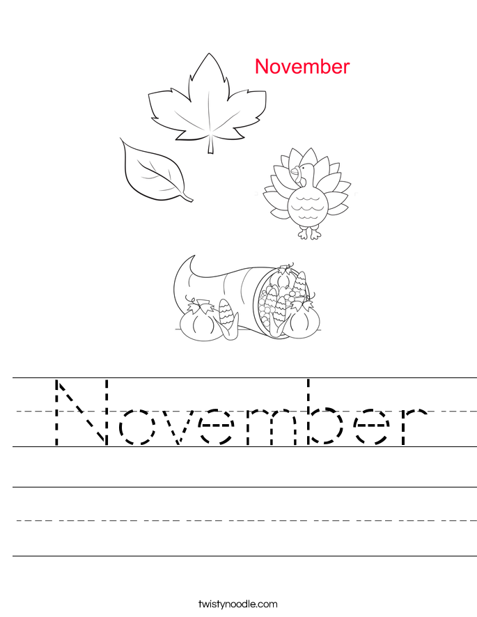 November Worksheet