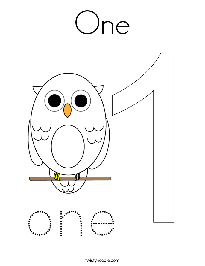 Number 1 coloring pages twisty noodle 1 Year Old Coloring Pages 1-10 coloring pages 12 Days of Coloring Page