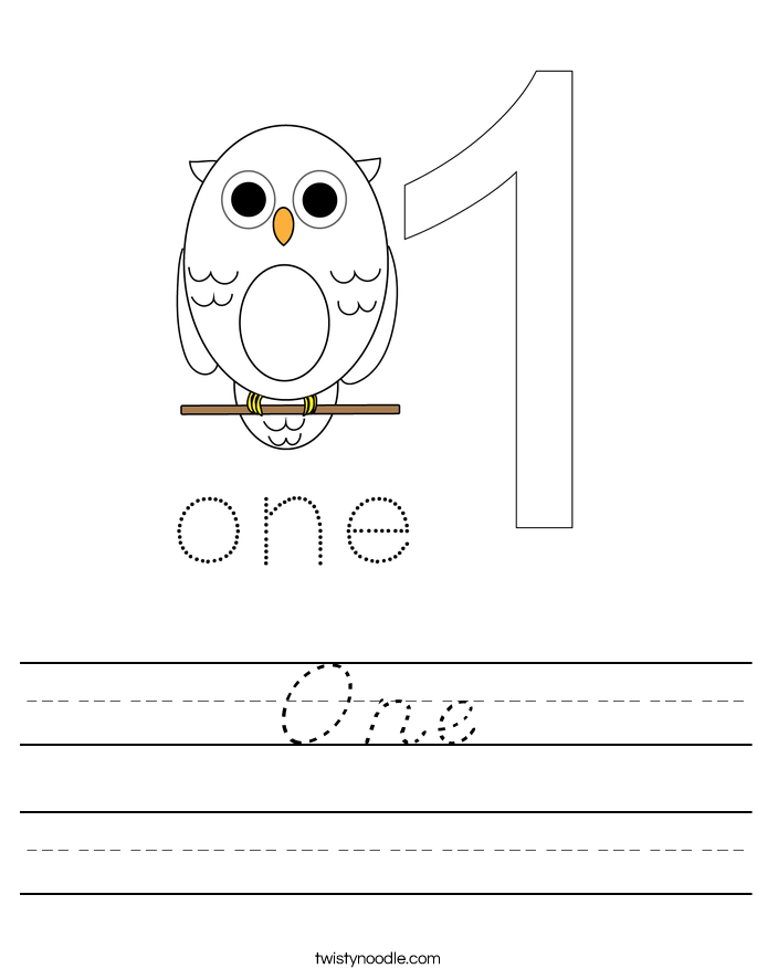 One Worksheet