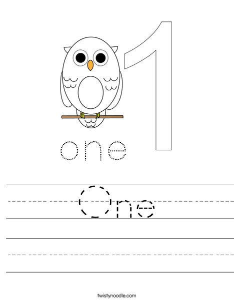 One 55 Worksheet on Handwriting Cursive