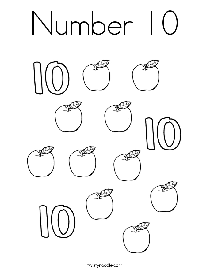 Number 10 Coloring Page Coloring Pages