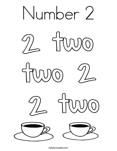Number 2 Coffee Coloring Page