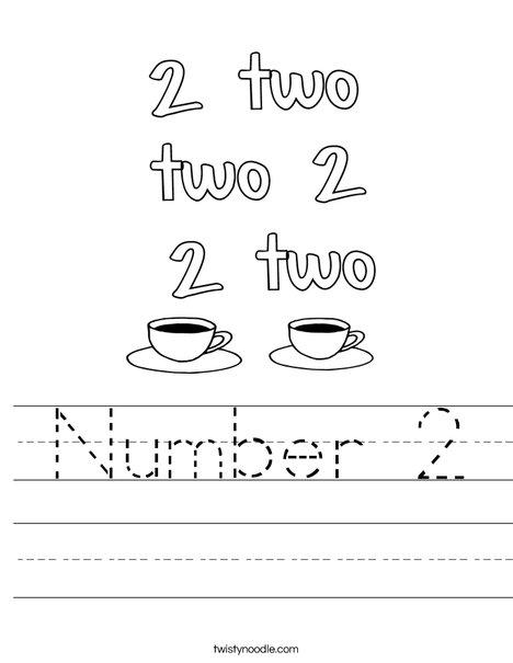 Number 2 Coffee Worksheet