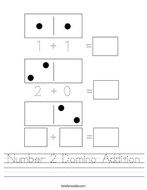 Number 2 Domino Addition Worksheet