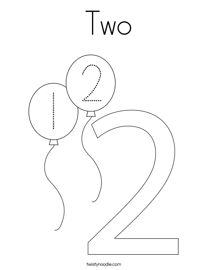 Number Coloring Pages Twisty Noodle