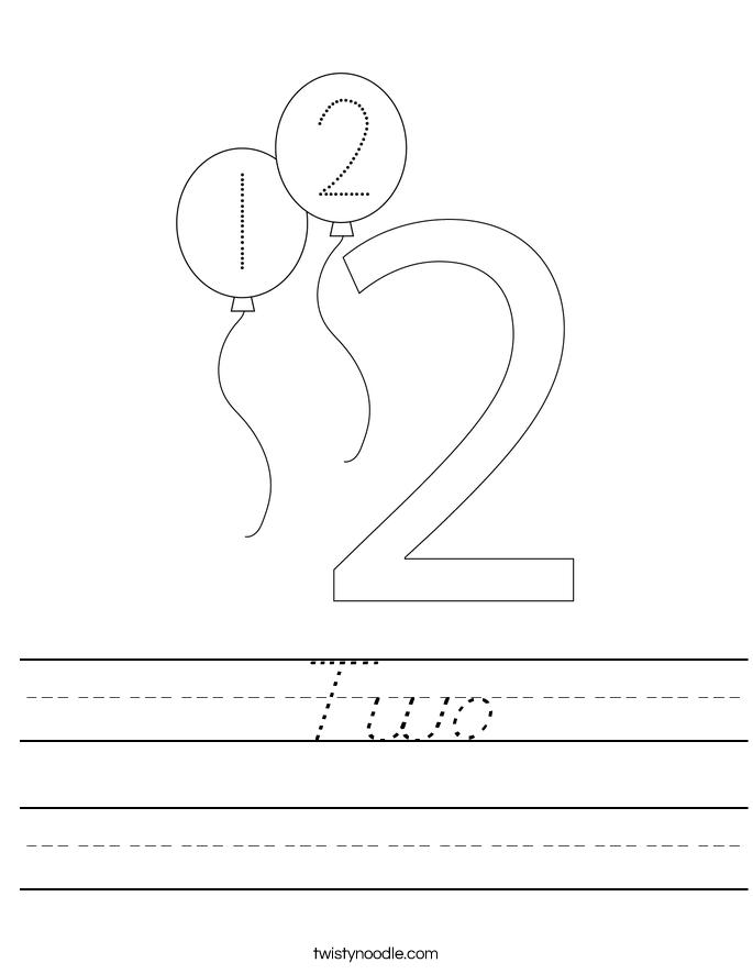 Two Worksheet
