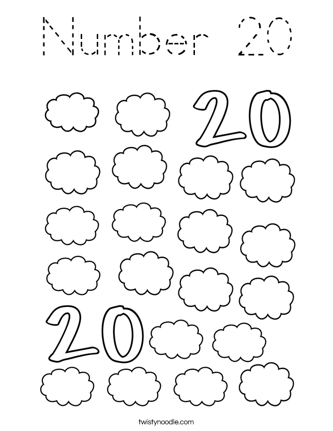 Number 20 Coloring Page