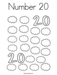 change template number 20 coloring page