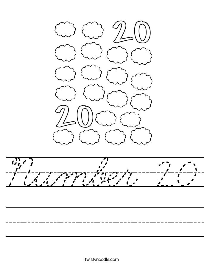 Number 20 Worksheet