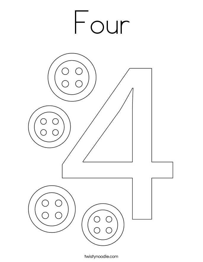 Four Coloring Page