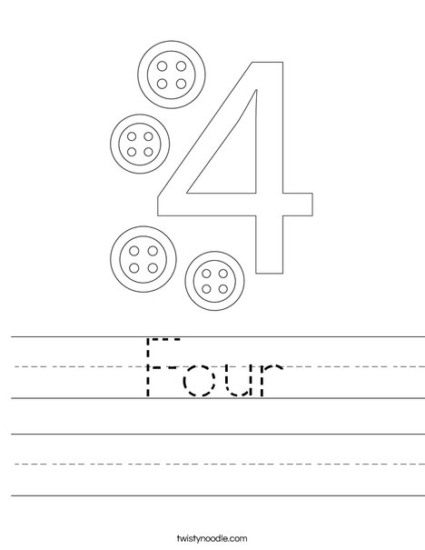 Number 4 Worksheet