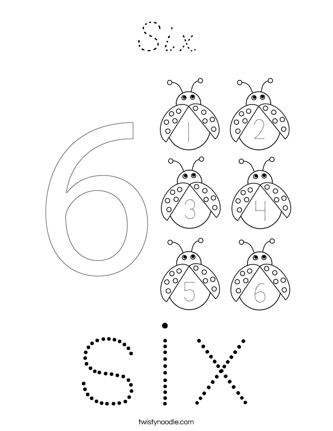 Six Coloring Page